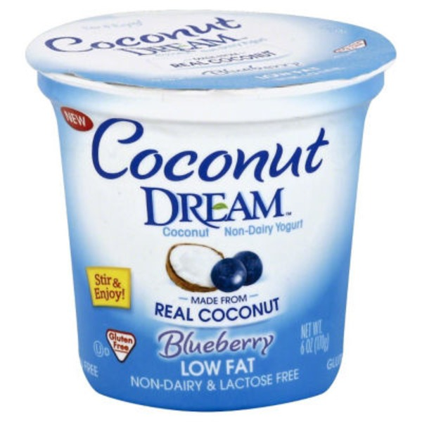 Coconut Dream Yogurt, Coconut Non-Dairy, Low Fat, Blueberry