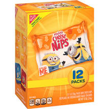 Nabisco Mini Cheese Nips Despicable Me Baked Snack Crackers