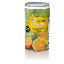 Great Value Pulp Free Orange Juice Frozen Concentrate