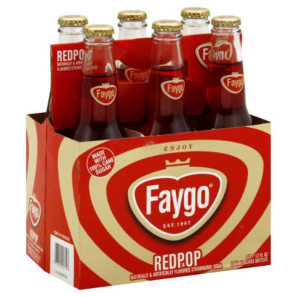Faygo Redpop Strawberry Soda With Cane Sugar