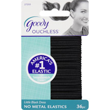 Goody Ouchless No Metal Hair Elastics Little Black Dress 27255