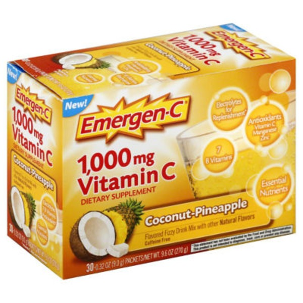 Emergen-C Coconut-Pineapple Vitamin C 1000mg Drink Mix Dietary Supplement
