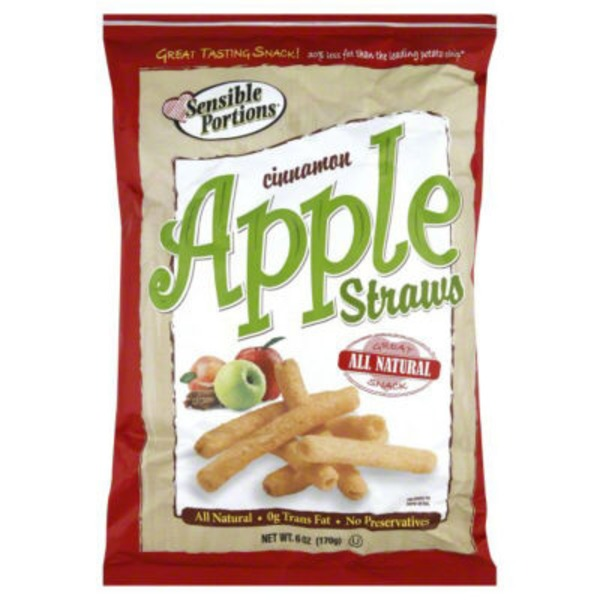 Sensible Portions Apple Straws Cinnamon Multigrain Snack
