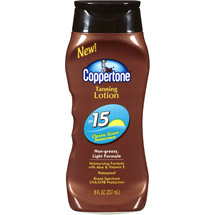 Coppertone Classic Scent Tanning Lotion Sunscreen SPF 15