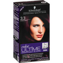 Schwarzkopf Color Ultime Magnificent Blacks Hair Coloring Kit 3.3 Amethyst Black