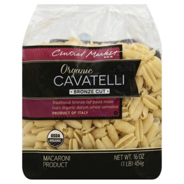 Central Market Organic Cavatelli Bronze Cut Pasta