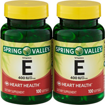 Spring Valley Heart/Immune Health 400 I.U. Vitamin E Supplement