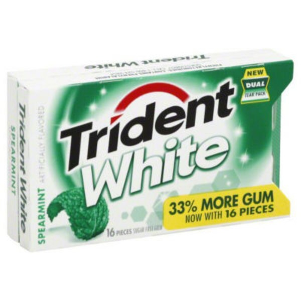 Trident White Spearmint Sugar Free Gum
