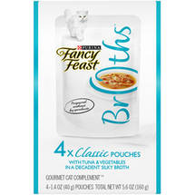 Fancy Feast Broths Classic Tuna & Vegetables Multipack