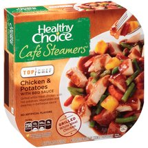 Healthy Choice Cafe Steamers Top Chef Chicken & Potatoes with BBQ Sauce