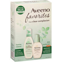 Aveeno Favorites Clear Complexion Foaming Cleanser & Daily Moisturizer Set