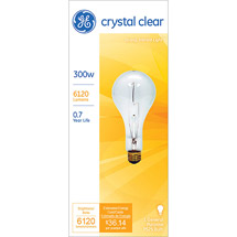 GE soft white 300/266 watt PS25 1-pack