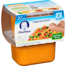 Gerber 2nd Foods Vegetable Beef Nutritious Dinner