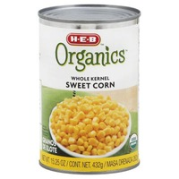 H E B Organics Whole Kernel Sweet Corn