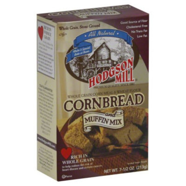Hodgson Mill Whole Grain Cornbread and Muffin Mix