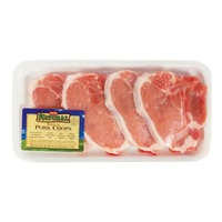 H-E-B Natural Bone In Center Loin Pork Chops