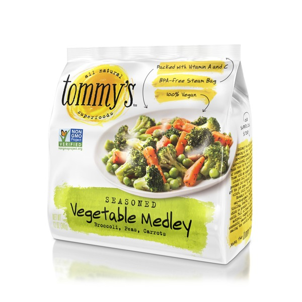 Tommys Seasoned Steamables the Mix'd Vegetable Medley