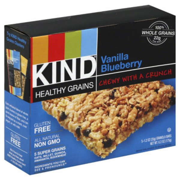 Kind Healthy Grains Vanilla Blueberry Granola Bars
