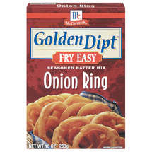 Golden Dipt Onion Ring Seasoned Batter Mix Fry Easy