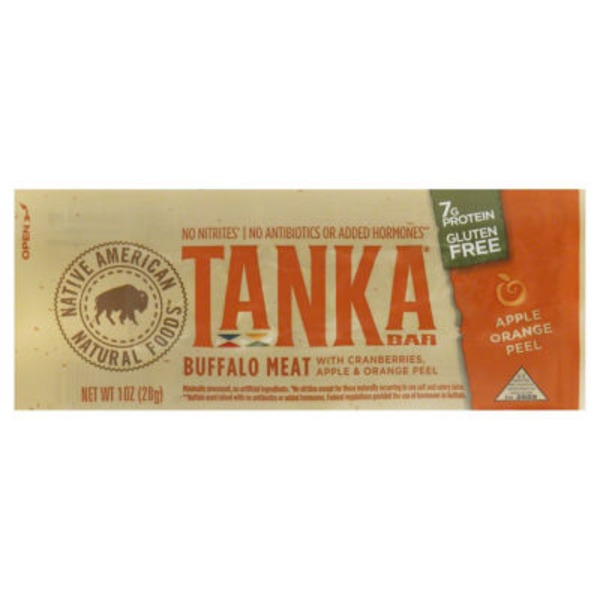 Tanka Buffalo Meat Bar with Cranberries, Apple & Orange Peel
