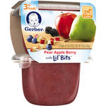 Gerber 3rd Foods Pear Apple Berry Fruit Puree with Lil' Bits