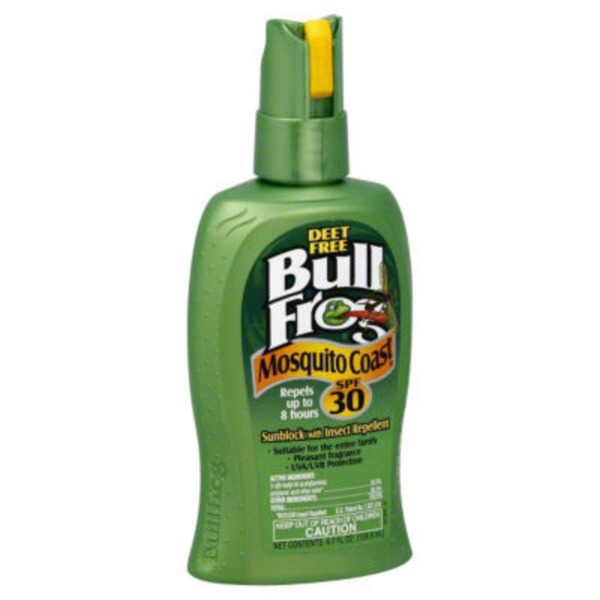 BullFrog Mosquito Coast® Sunscreen with Insect Repellent Spray SPF 30