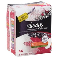 Always Discreet Always Discreet, Incontinence Liners, Very Light, Long Length, 44 Count Feminine Care
