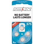 Rayovac Type 675 Hearing Aid Batteries