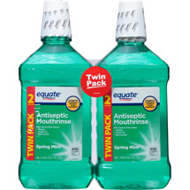 Equate Spring Mint Antiseptic Mouthrinse (Pack of 2)