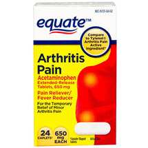 Equate Acetaminophen Pain Reliever/Fever Reducer 650mg