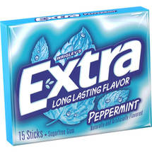 Extra Peppermint Sugarfree Gum single pack
