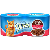 9 Lives Tender Slices w/Real Beef In Gravy Cat Food