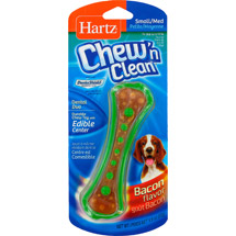 Hartz Chew 'N Clean Country Bacon Flavored Toy And Edible Chew