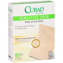 Curad Sensitive Skin Non-Stick Pads