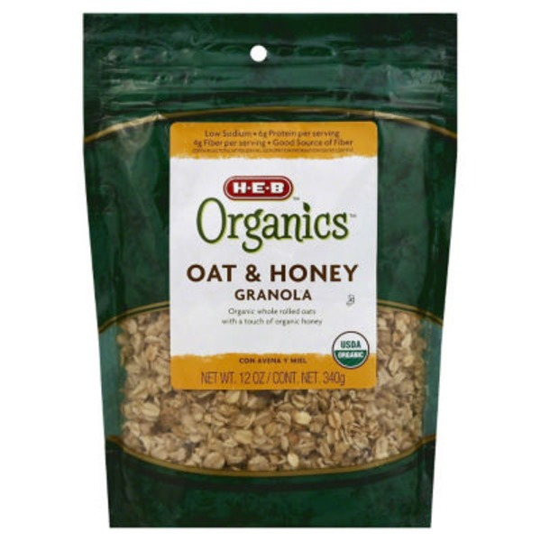 H-E-B Organics Oat And Honey Granola