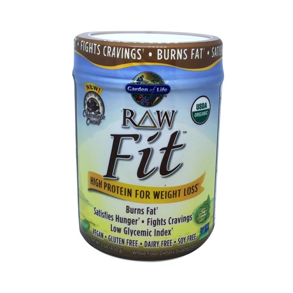 Garden of Life Chocolate Cacao Raw Fit Protein Powder