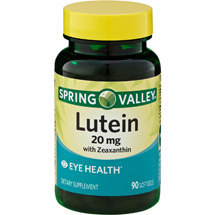 Spring Valley Natural Lutein with Zeaxanthin Dietary Supplement Softgels