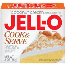 Jell-O Coconut Cream Cook & Serve Pudding & Pie Filling