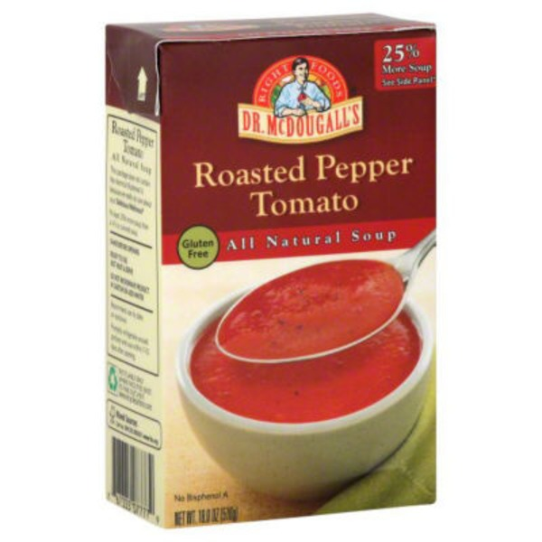 Dr. McDougall's Right Foods All Natural Soup Roasted Pepper Tomato