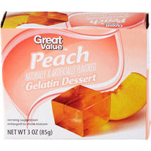 Great Value Peach Gelatin Dessert