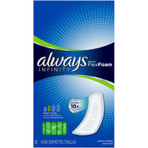 Always Infinity Heavy-Flow Unscented Feminine Pads