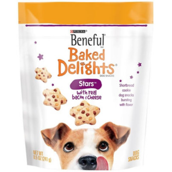 Beneful Treats Baked Delights Stars with Bacon & Cheese Dog Snacks