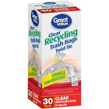 Great Value Twist Tie Clear Recycling Bags