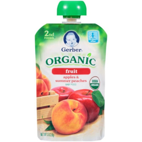 Gerber Organic 2 Nd Foods Organic Apples & Peaches Baby Food