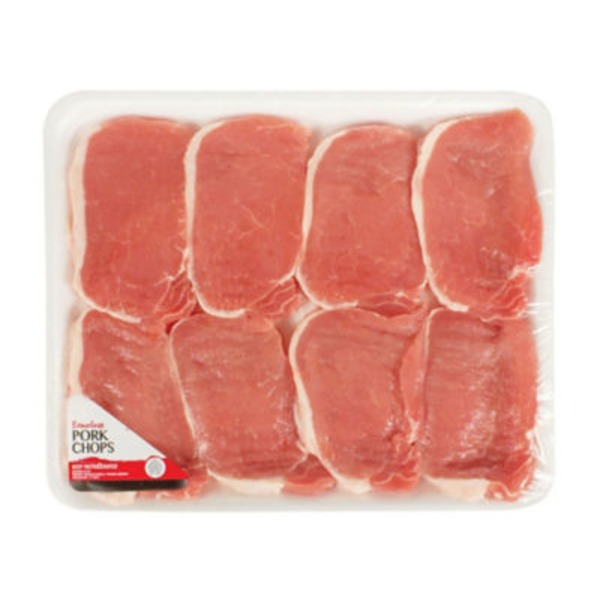 Fresh Thin Cut Boneless Center Cut Pork Chops Value Pack
