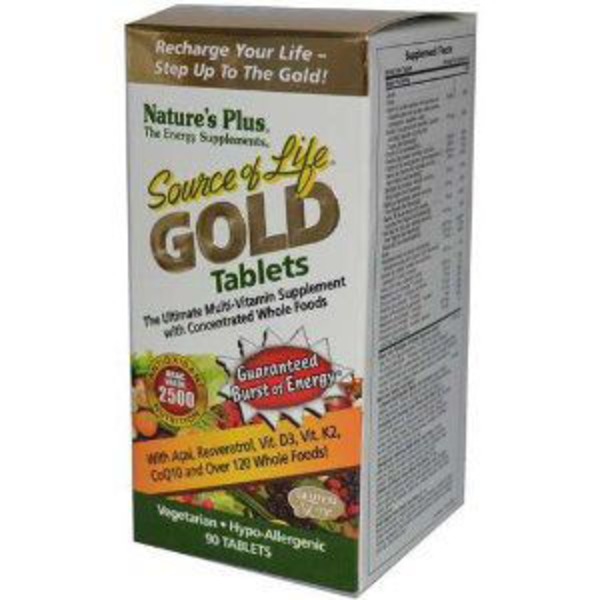 Nature's Plus Source Of Life Gold Tablets Ultimate Multi-Vitamin Tablets