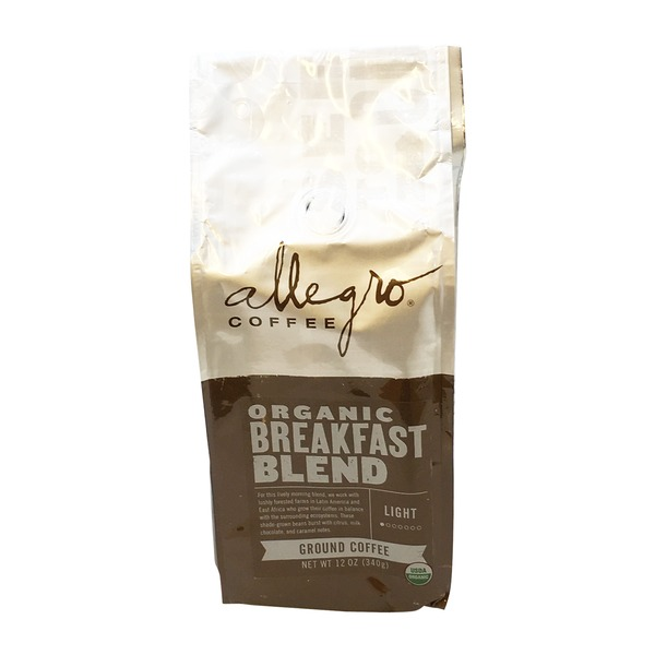 Allegro Organic Breakfast Blend Ground Coffee