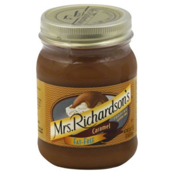 Mrs Richardsons Topping, Caramel, Fat-Free