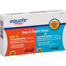 Equate Maximum Strength Day & Night Sinus Caplets