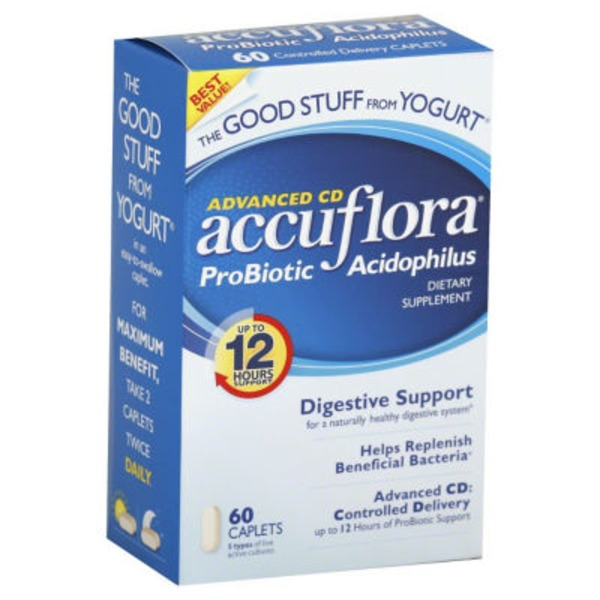 Accuflora Advanced CD Caplets Probiotic Supplement